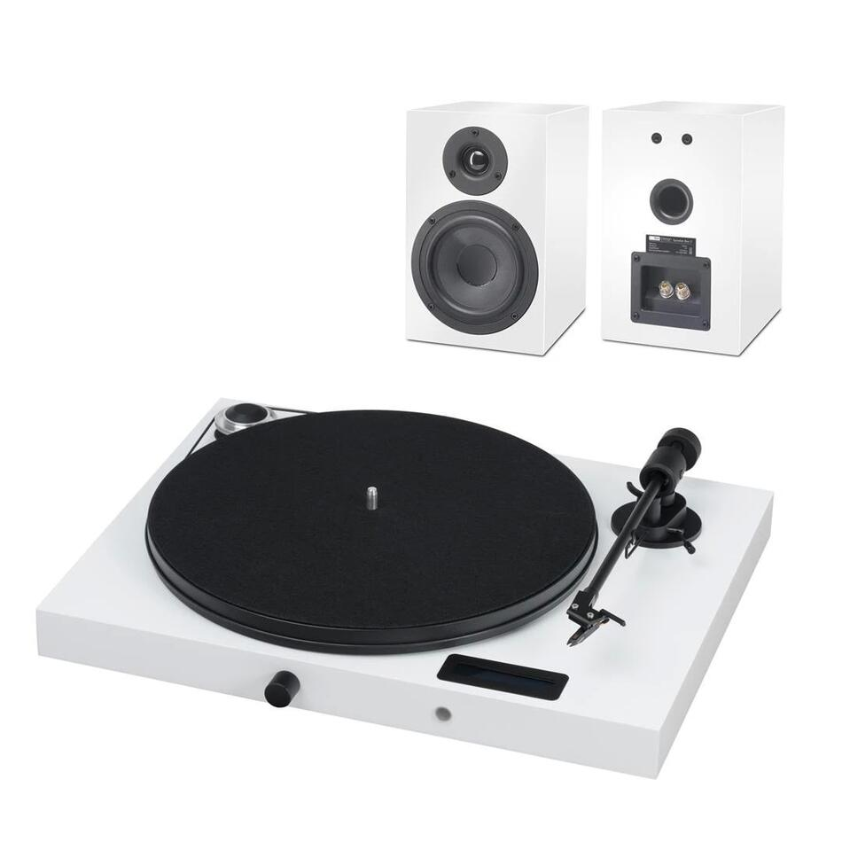 PRO-JECT SET JUKEBOX E + SPEAKER BOX 5 WHITE/WHITE INT (Комплект)